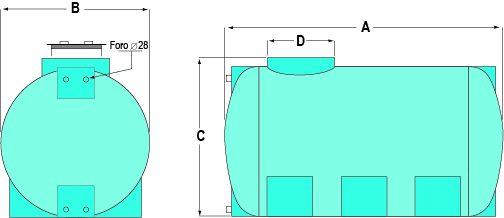 Storage-Tanks-Horizontal-Drawing